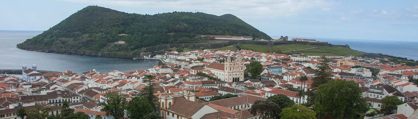 Overlooking city in Terceira